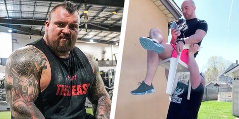 eddie hall, world's strongest man home edition