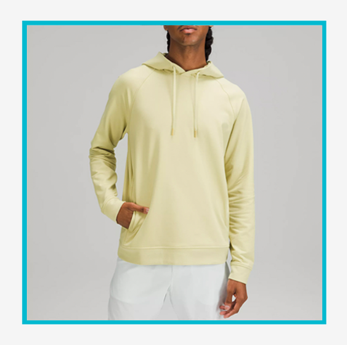 lululemon we made too much sale green backpack and yellow hoodie