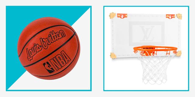 louis vuitton x nba basketball hoop and ball