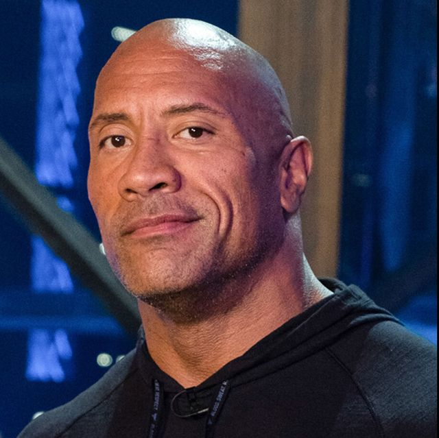 the rock before after shaved head