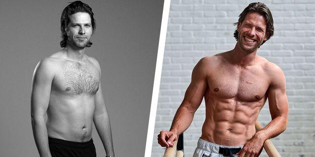 men's health cover model before after shot