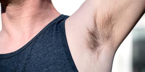 armpit hair trimming