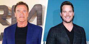 Arnold Schwarzenegger and Chris Pratt