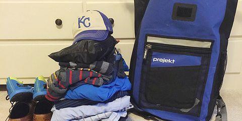 unpacked rucksack