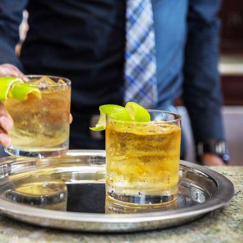 Drink, Alcoholic beverage, Distilled beverage, Cocktail, Beer cocktail, Alcohol, Liqueur, Caipirinha, Food, Whiskey sour,