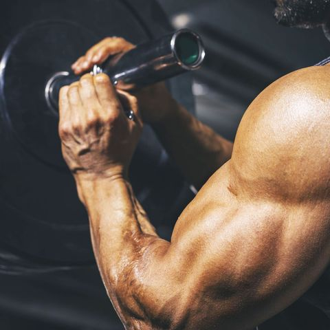Bodybuilding, Bodybuilder, Shoulder, Muscle, Arm, Physical fitness, Chest, Barechested, Chin, Joint,