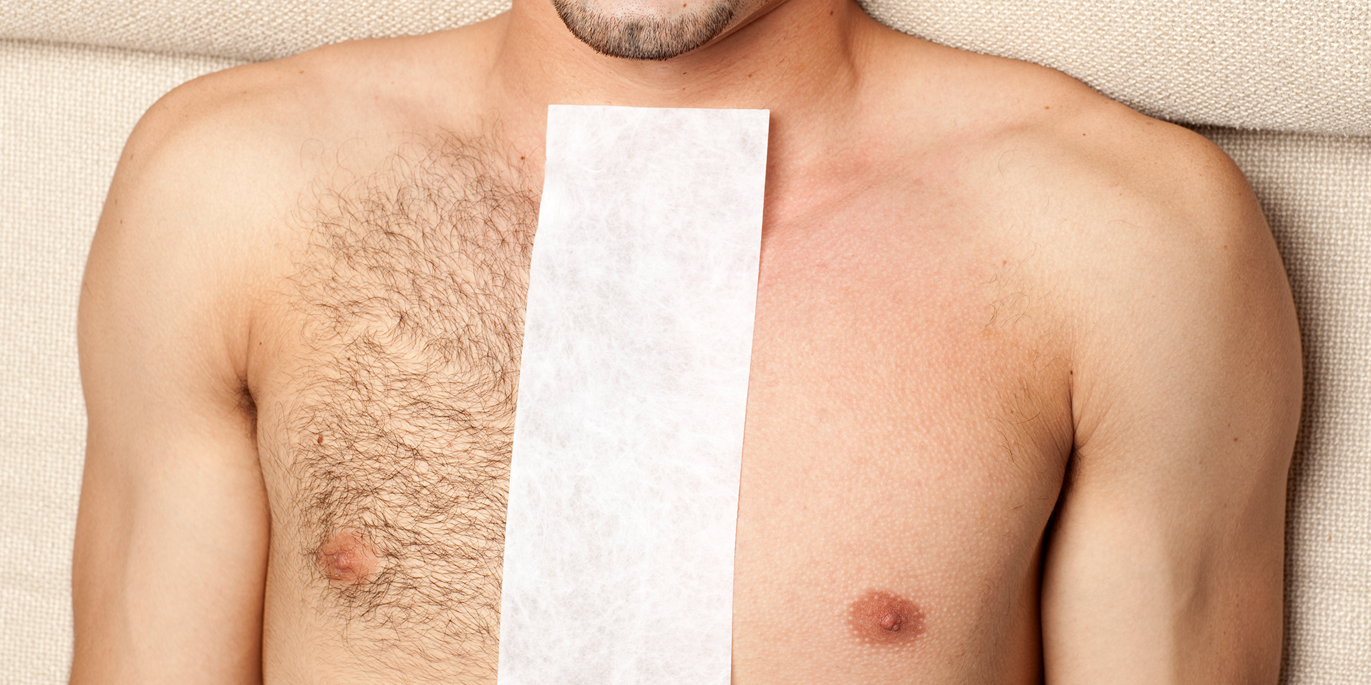 Mens body hair removal wax
