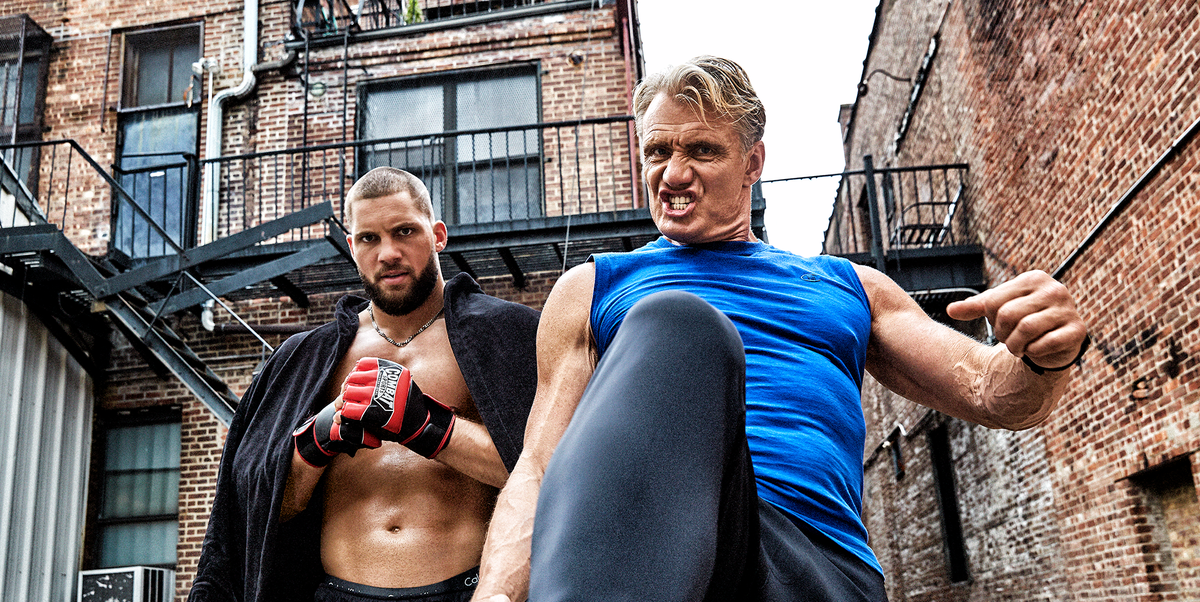 Dolph Lundgren And Florian Munteanu On Creed 2 Workout