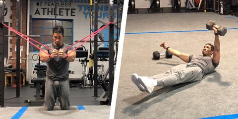 ejercicios ganar volumen torso