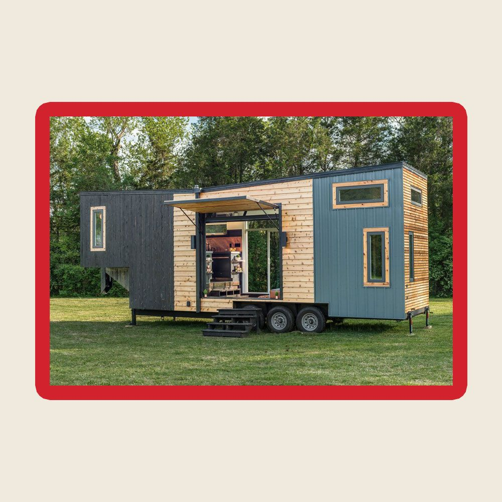 The New Frontier Escher Tiny House Combines a Rustic Look With Modern Features