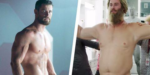 Chris Hemsworth Becomes Fat Thor In Bts Avengers Endgame Clip
