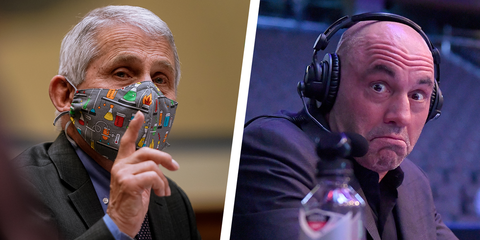 <p>Dr. Anthony Fauci Shuts Down Joe Rogan's Comments about the Covid Vaccine thumbnail