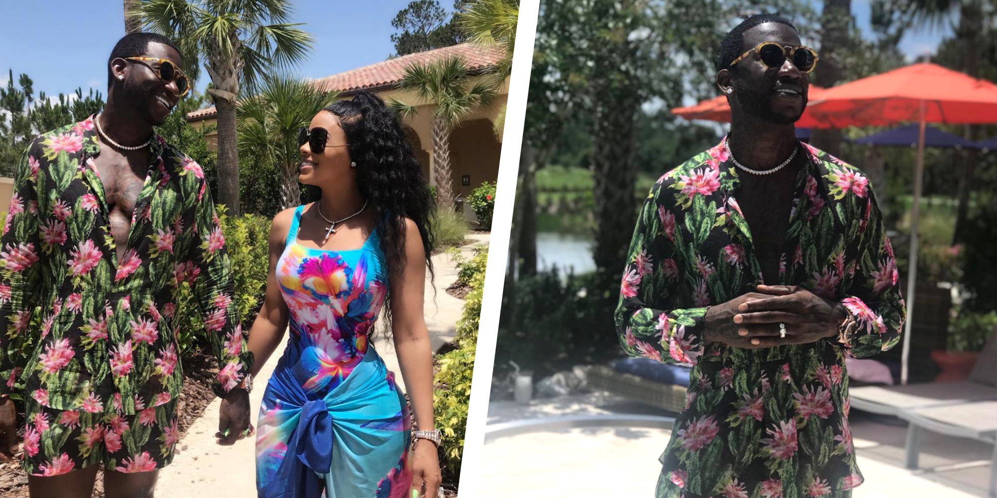 7b1e2498 Gucci Mane's Floral Set Has Twitter Reacting Strongly