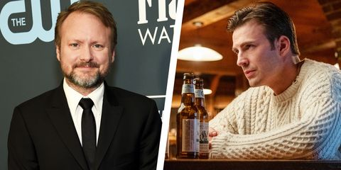 chris evans rian johnson butter cookies knives out