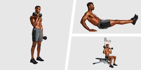Shoulder, Weights, Exercise equipment, Arm, Strength training, Dumbbell, Standing, Fitness professional, Human leg, Leg,