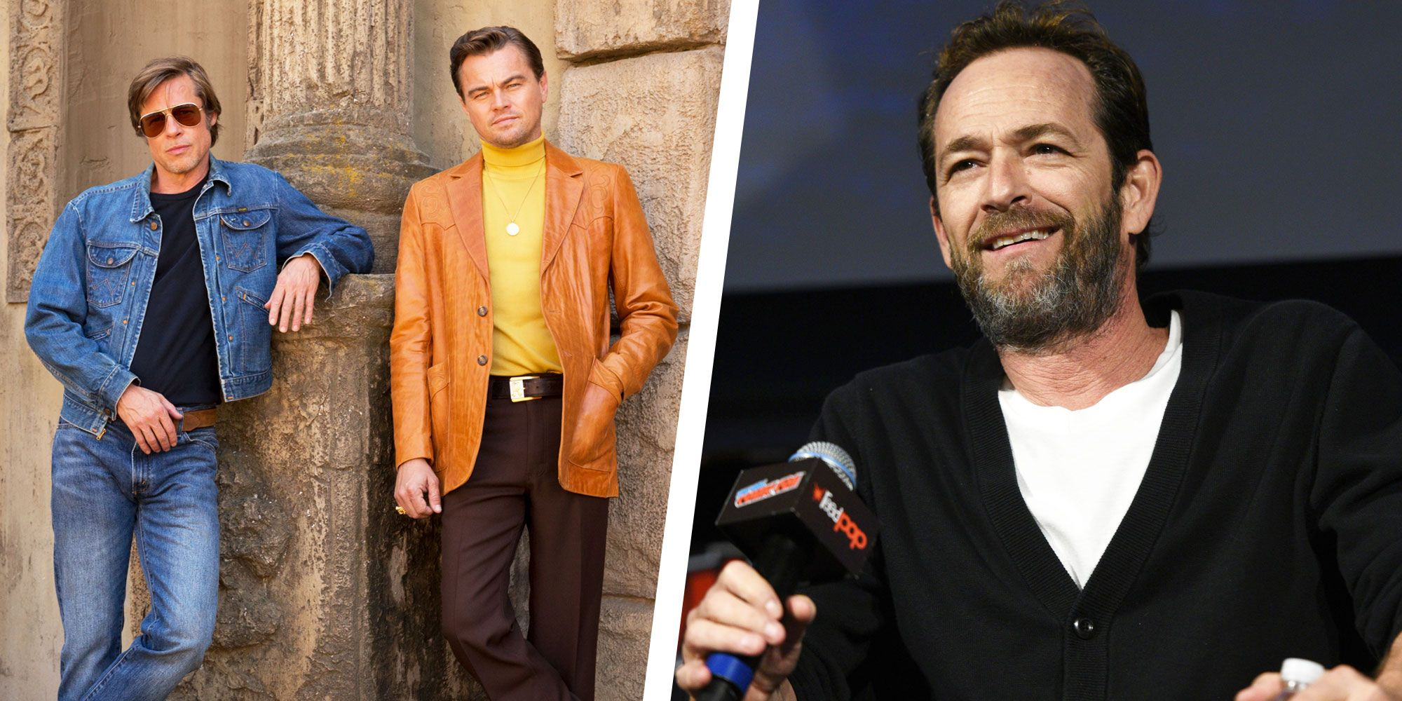 Leonardo Dicaprio and Brad Pitt Were Starstruck by Luke Perry's Presence On the Set of Once Upon a Time in Hollywood