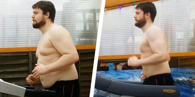 billy the titan running on a treadmill