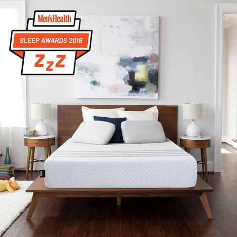 Bedroom, Furniture, Bed, Room, Interior design, Bed frame, Mattress, Wall, Property, Floor,