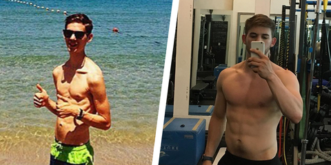 Alex Rosen muscle transformation