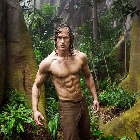Jungle, Natural environment, Barechested, Muscle, Tree, Forest, Botany, Rainforest, Human, Old-growth forest,