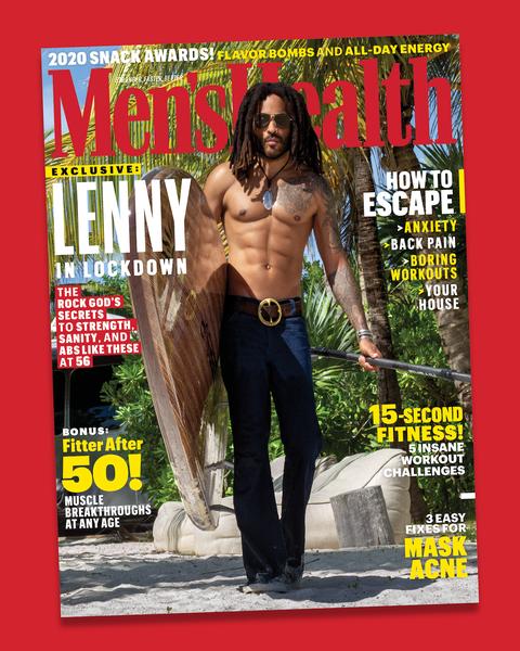 men's health lenny kravitz cover
