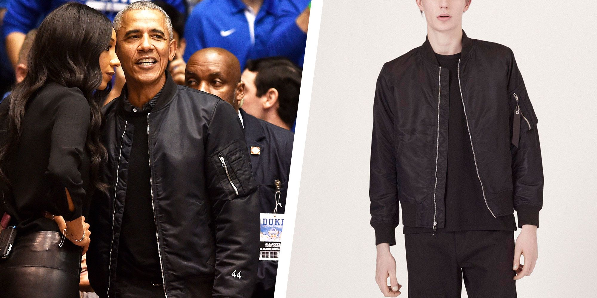 a2bf40085 Get Barack Obama's Undeniably Cool Bomber Jacket Look