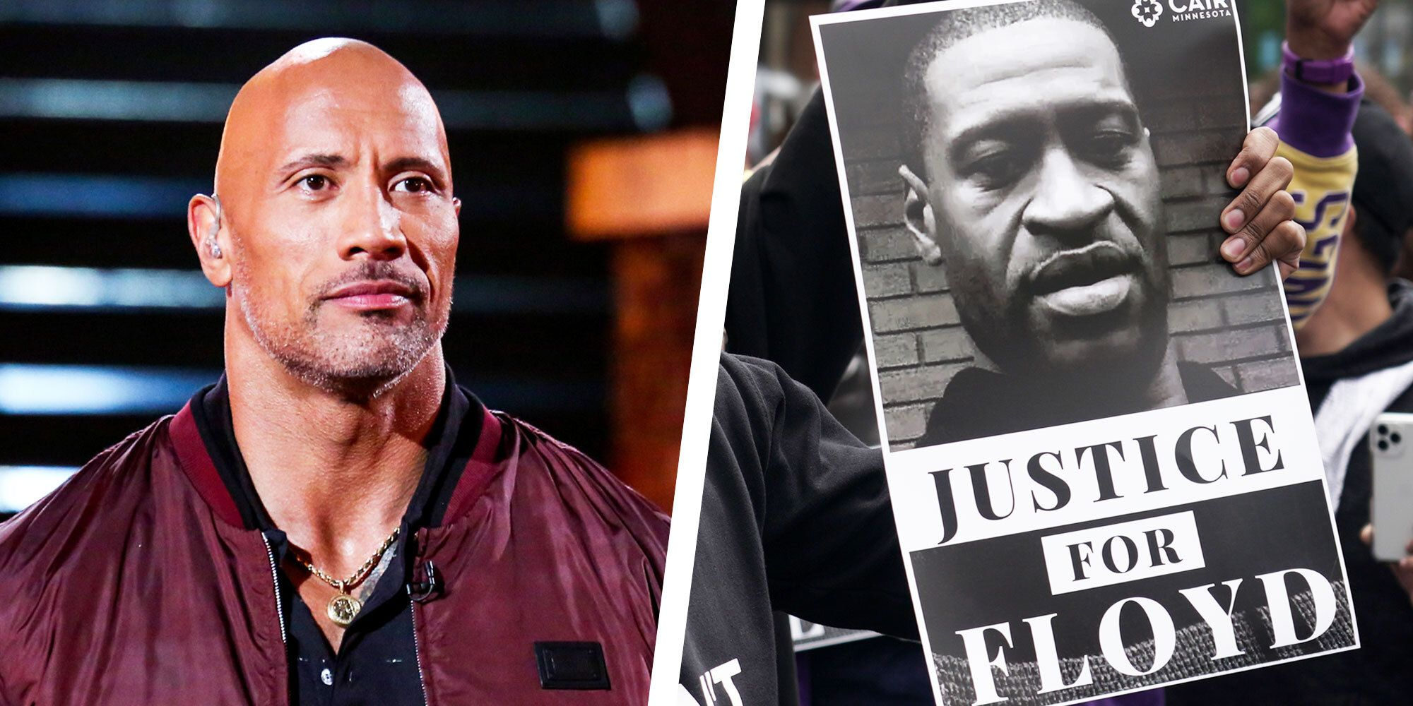 The Rock Calls to 'Normalise Equality' in Moving Instagram Tribute to George Floyd