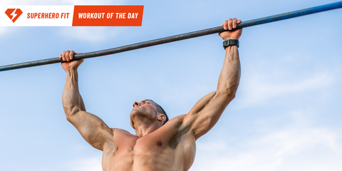 Superhero Fit Workout Move of the Day: Hanging Oblique Knee Raise
