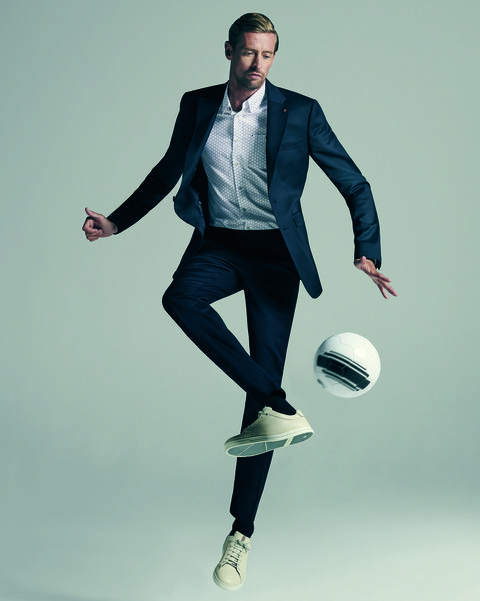 White, Standing, Jumping, Fashion, Formal wear, Cool, Photo shoot, Photography, Jeans, Footwear,