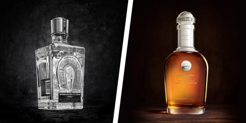 Glass bottle, Drink, Bottle, Liqueur, Product, Distilled beverage, Alcoholic beverage, Alcohol, Perfume, Whisky,
