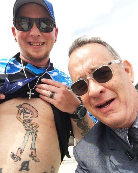 tom hanks woody tattoo toy story
