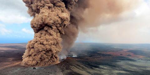 Smoke, Volcano, Volcanic landform, Types of volcanic eruptions, Explosion, Geological phenomenon, Rock, Lava dome, Atmosphere, Ash,