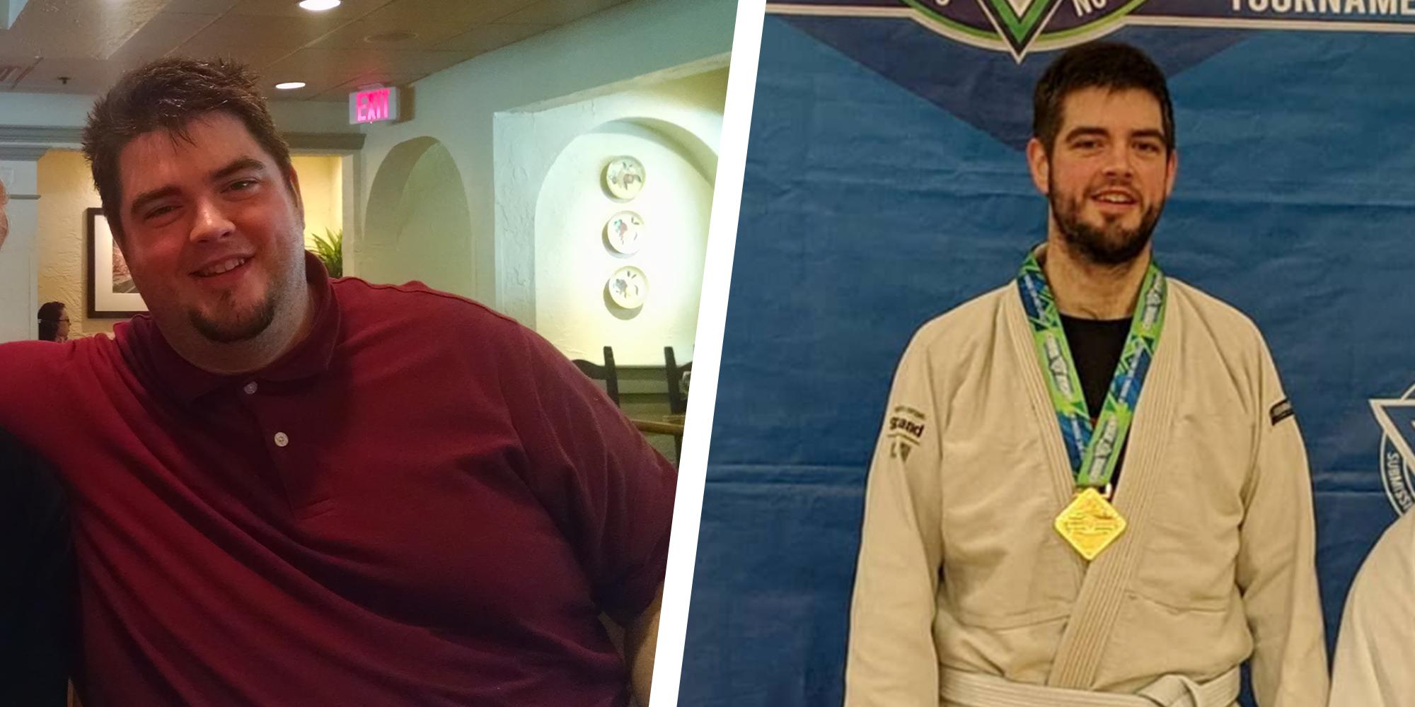 Man Has 150-Pound Weight Loss Transformation From Jiu-Jitsu