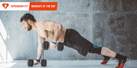 Superhero Fit Workout Move of the Day: Plank Row