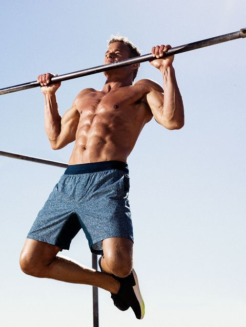 Muscle, Pull-up, Physical fitness, Horizontal bar, Barechested, Exercise,