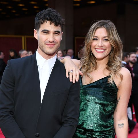new york, new york   june 09 darren criss and mia swier attend the 73rd annual tony awards at radio city music hall on june 09, 2019 in new york city photo by jenny andersongetty images for tony awards productions