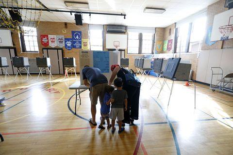 GOP Senate Candidate Sandy Pensler Casts His Vote In Michigan Primary