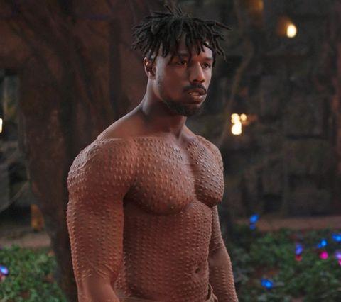 "Michael B. Jordan in ""Black Panther."""