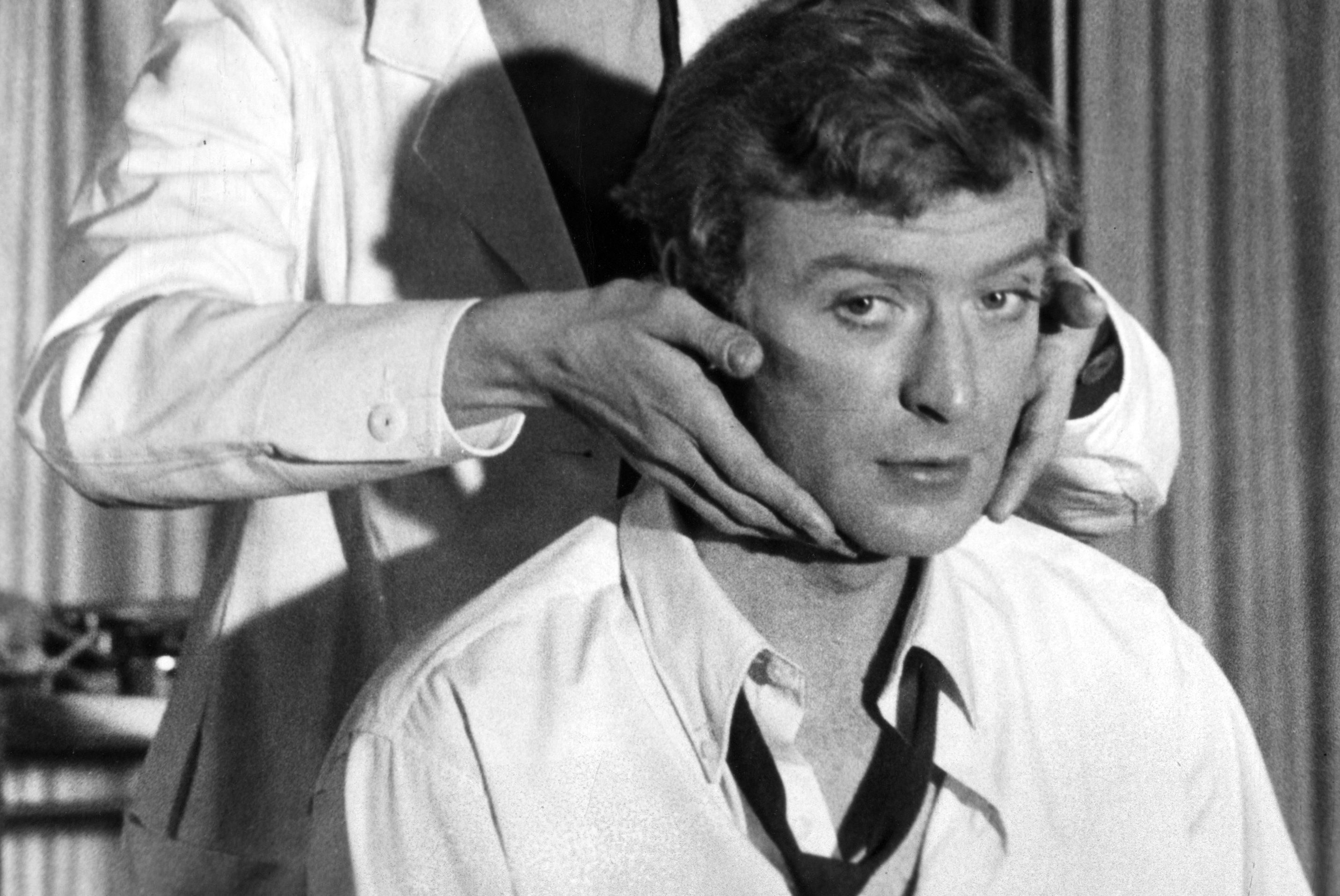 """Michael Caine at 33 Caine began his career on the London stage, using the stage name """"Michael Scott."""""""