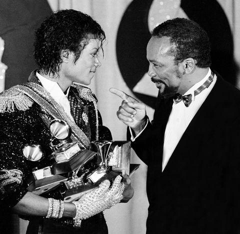 Michael Jackson Quincy Jones Grammy Awards