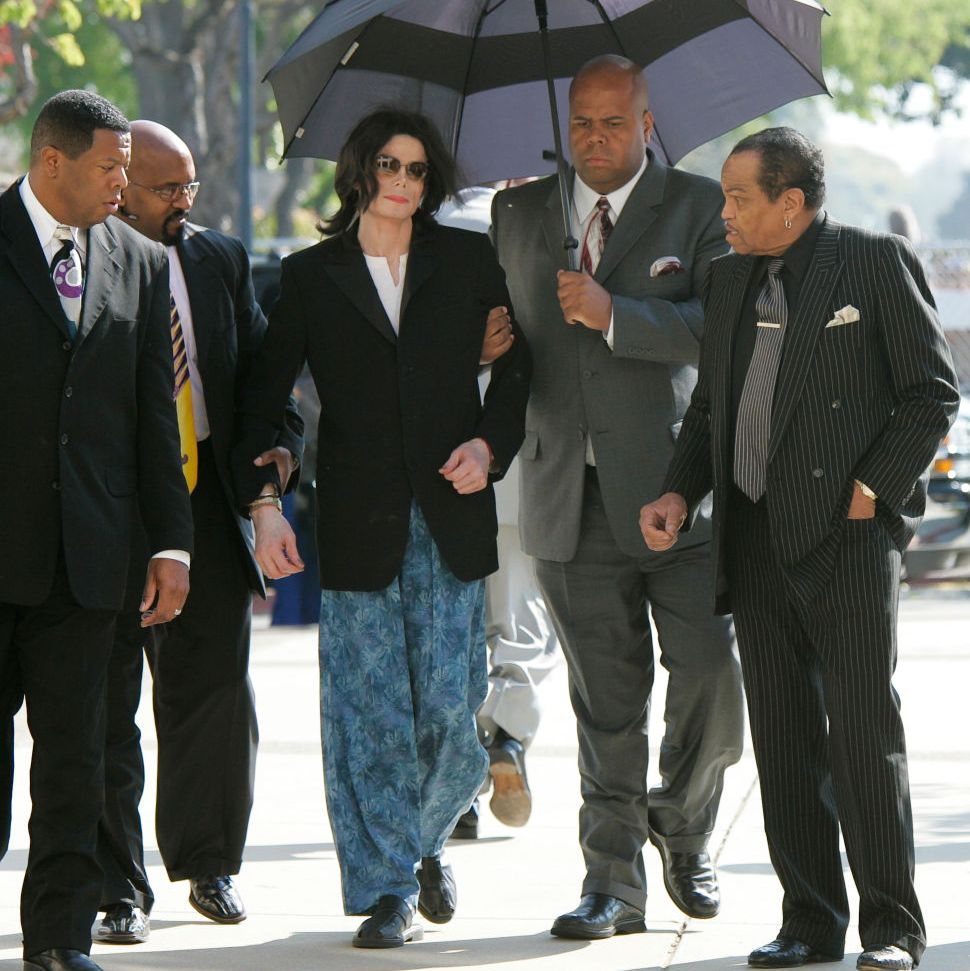 Jackson arrives at the court house wearing pajama bottoms.