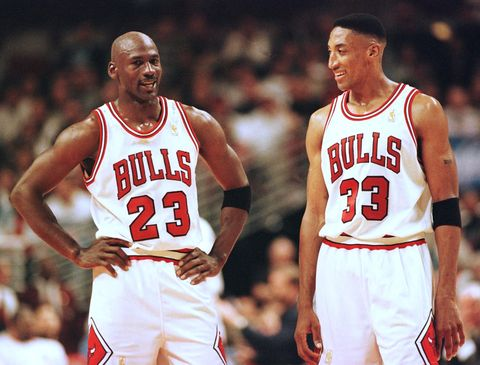 michael jordan l and scottie pippen r of the c