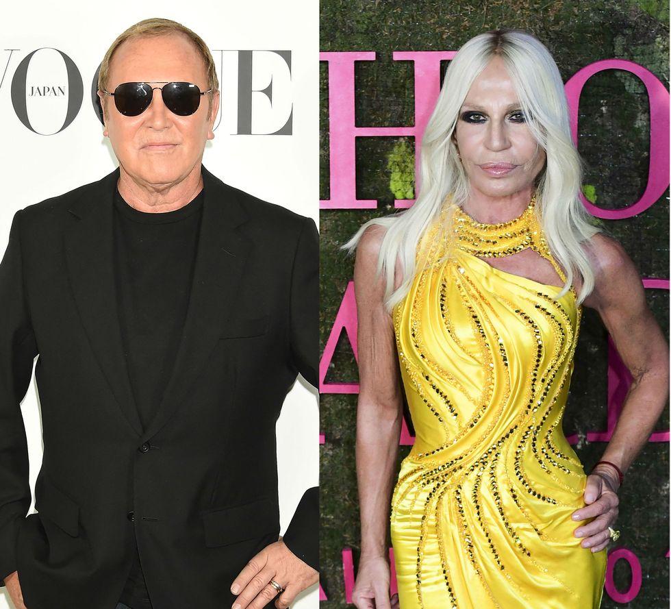 Michael Kors and Donatella Versace