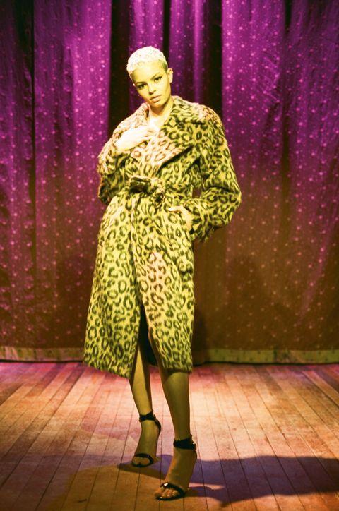 Magenta, Purple, High heels, Sandal, Violet, Costume design, Stage, Foot, Fashion design, Ankle,