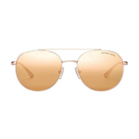 Michael Kors Men's Lon Rounded Aviator Sunglasses