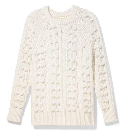 michael michael kors maglione bianco con trecce tendenza moda inverno 2021