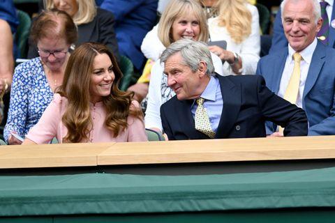 Kate Middleton and Michael Middleton at Wimbledon match