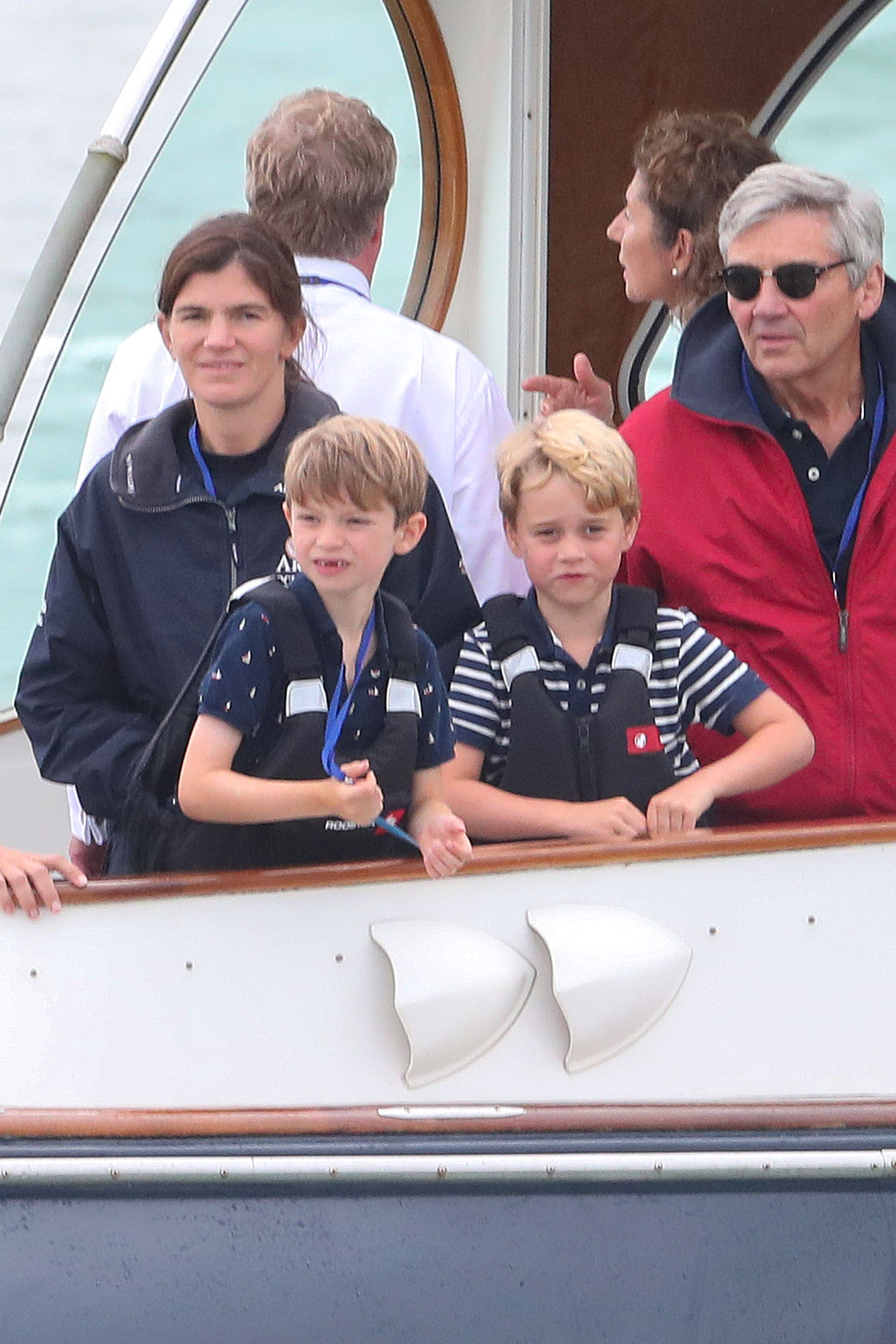 Prince George and Princess Charlotte Make a Surprise Appearance at the King's Cup Regatta