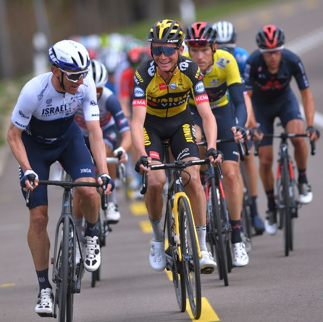 michael woods and sepp kuss at the 74th tour de romandie 2021 stage 2