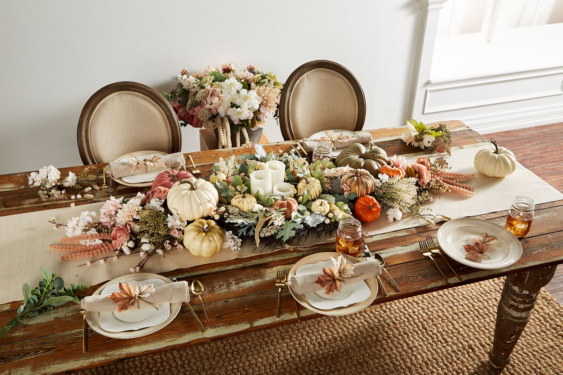 michaels fall table and centerpiece ideas